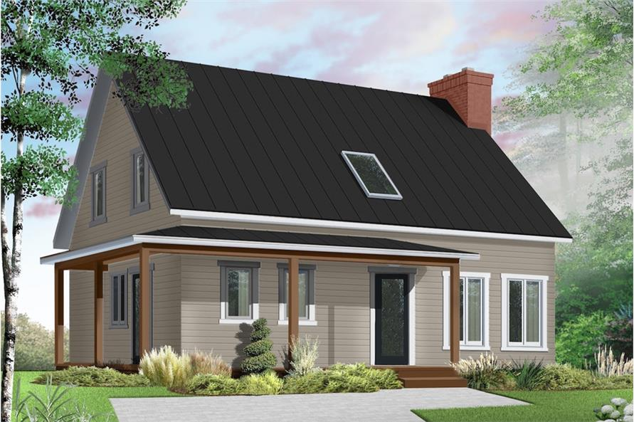 Home Plan Rendering of this 3-Bedroom,1772 Sq Ft Plan -126-1909