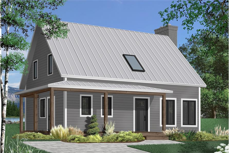 3-Bedroom, 1772 Sq Ft Country House Plan - 126-1909 - Front Exterior
