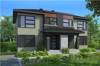 6-Bedroom, 2760 Sq Ft Contemporary Home Plan - 126-1910 - Main Exterior