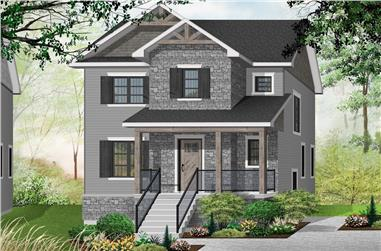 3-Bedroom, 1652 Sq Ft Contemporary Home Plan - 126-1912 - Main Exterior