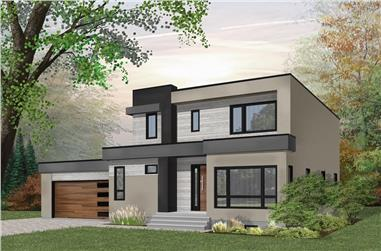 3-Bedroom, 2042 Sq Ft Modern Home Plan - 126-1913 - Main Exterior