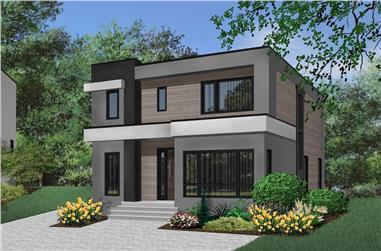 3-Bedroom, 2063 Sq Ft Modern House Plan - 126-1914 - Front Exterior