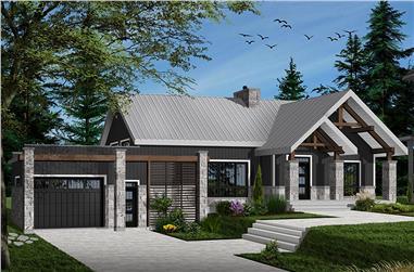 Contemporary home plan (ThePlanCollection: House Plan #126-1916)