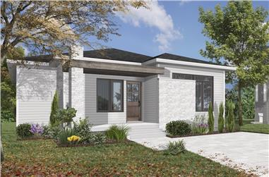 3-Bedroom, 1178 Sq Ft Contemporary Home Plan - 126-1917 - Main Exterior