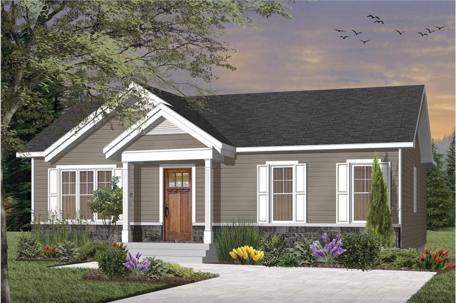 Craftsman House - 3 Bedrms, 1 Baths - 1024 Sq Ft - Plan #126-1919 on 1910 house plans, sectional house plans, 1912 house plans, 4 bedroom house plans, government house plans, 1900 house plans, united states house plans, craftsman style house plans,