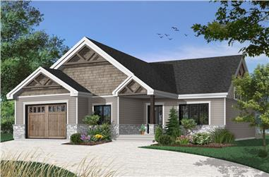 2-Bedroom, 1504 Sq Ft Craftsman House - Plan #126-1921 - Front Exterior