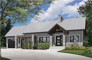2-Bedroom, 1212 Sq Ft Country House Plan - 126-1925 - Front Exterior