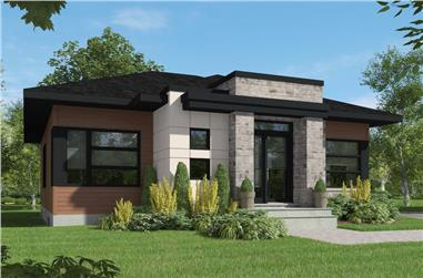 2-Bedroom, 1266 Sq Ft Contemporary House Plan - 126-1927 - Front Exterior