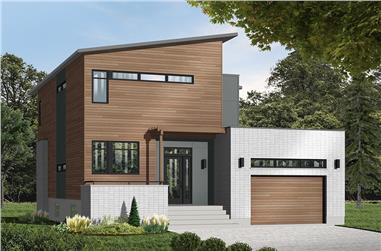 3-Bedroom, 1999 Sq Ft Modern House - Plan #126-1930 - Front Exterior