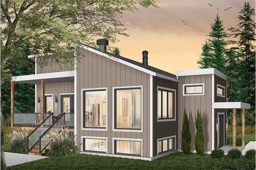 Home Plan Rendering of this 1-Bedroom,1141 Sq Ft Plan -1141