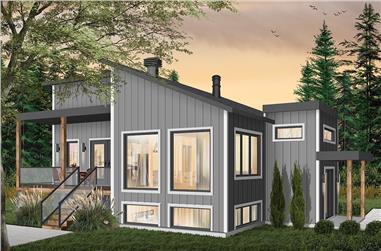 1-Bedroom, 1141 Sq Ft Modern Home Plan - 126-1930 - Main Exterior