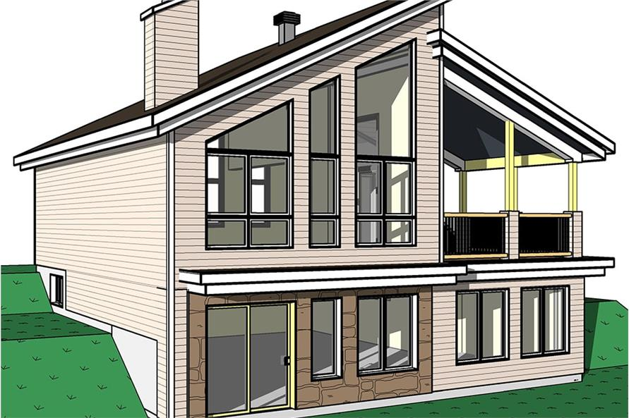 Home Plan Rear Elevation of this 3-Bedroom,2085 Sq Ft Plan -126-1931