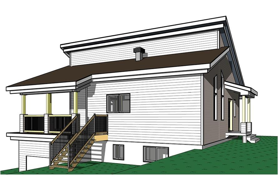 Home Plan Right Elevation of this 3-Bedroom,2085 Sq Ft Plan -126-1931