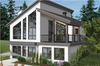 3-Bedroom, 2085 Sq Ft Modern House Plan - 126-1931 - Front Exterior