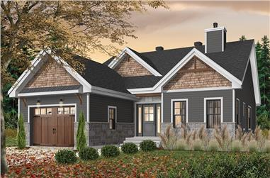 2-Bedroom, 1441 Sq Ft Craftsman House Plan - 126-1933 - Front Exterior