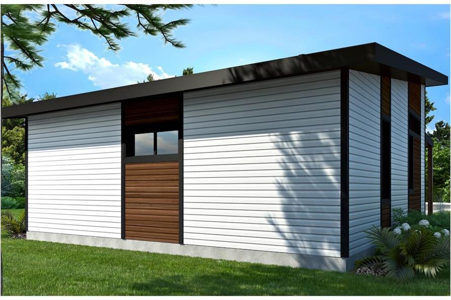 Home Plan Rendering of this 2-Bedroom,686 Sq Ft Plan -686