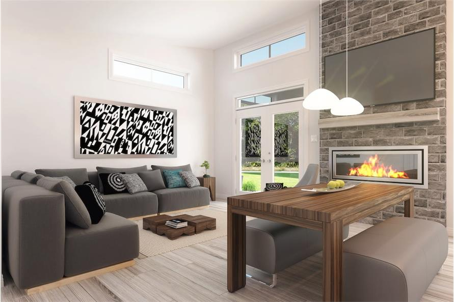 Living Room of this 2-Bedroom,686 Sq Ft Plan -686