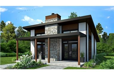 2-Bedroom, 686 Sq Ft Vacation Homes Home Plan - 126-1936 - Main Exterior