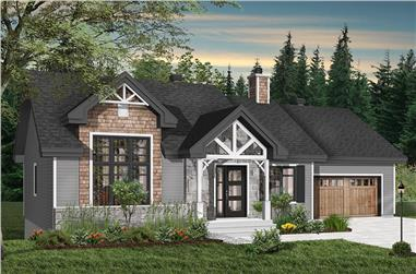 4-Bedroom, 1240 Sq Ft Craftsman House Plan - 126-1940 - Front Exterior