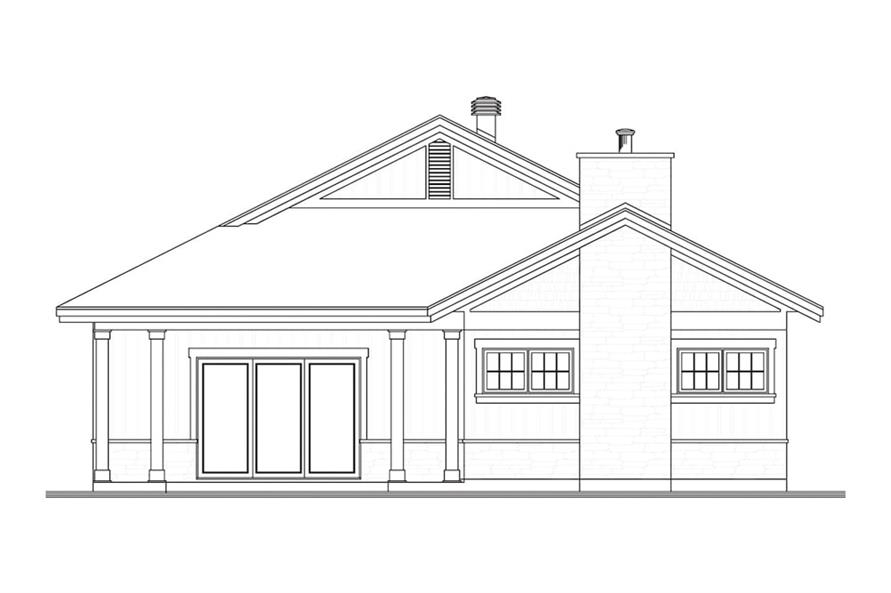Home Plan Rear Elevation of this 2-Bedroom,1883 Sq Ft Plan -126-1941