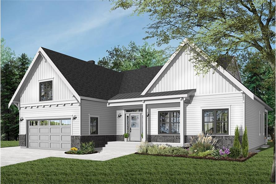 Craftsman House Plan - 2 Bedrms, 1 Baths - 1556 Sq Ft - #126-1942