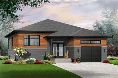 2-Bedroom, 1339 Sq Ft Contemporary Home Plan - 126-1944 - Main Exterior