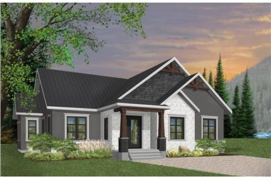 3-Bedroom, 1631 Sq Ft Country House Plan - 126-1946 - Front Exterior