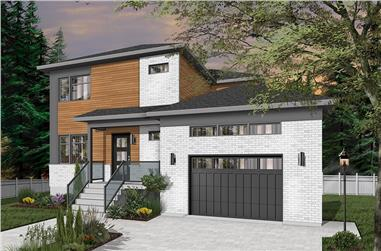 3-Bedroom, 2105 Sq Ft Contemporary Home Plan - 126-1952 - Main Exterior
