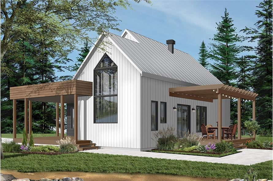 2-Bedroom, 1200 Sq Ft Vacation Homes Plan - #126-1960 - Main Exterior