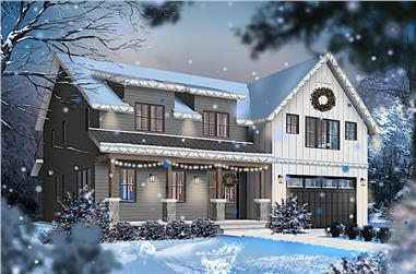 5-Bedroom, 3497 Sq Ft Farmhouse Home - Plan #126-1964 - Main Exterior