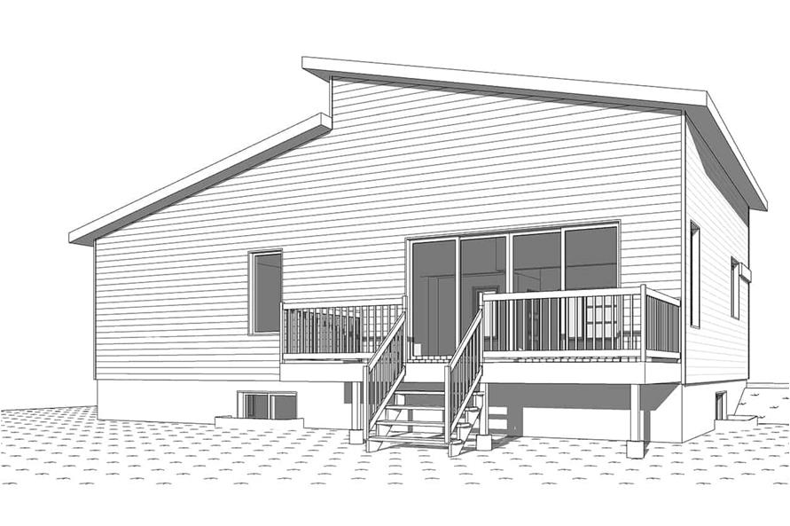 126-1966: Home Plan Rear Elevation