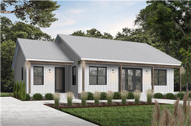 2-Bedroom, 1604 Sq Ft Ranch Home Plan - 126-1967 - Main Exterior