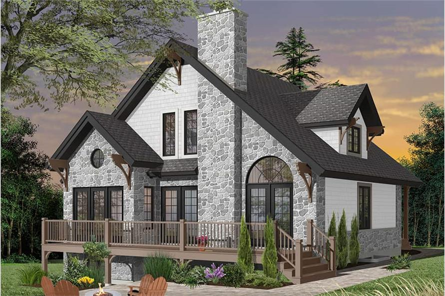 Rear View of this 3-Bedroom,1625 Sq Ft Plan -1625