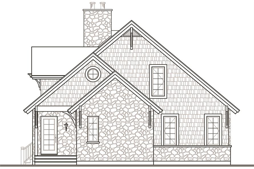 Home Plan Front Elevation of this 3-Bedroom,1625 Sq Ft Plan -126-1970