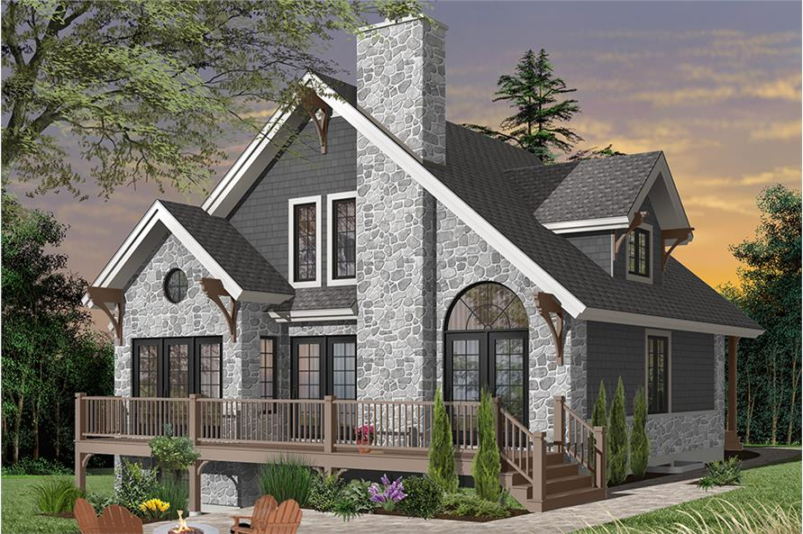 3-Bedroom, 1625 Sq Ft Rustic Country House - Plan #126-1970 - Front Exterior