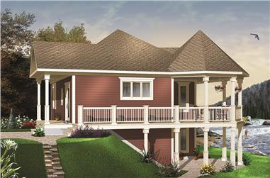 1-Bedroom, 840 Sq Ft Cottage House Plan - 126-1971 - Front Exterior