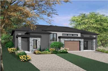 8-Bedroom, 4522 Sq Ft Contemporary Mulit-Unit  House - Plan #126-1975 - Front Exterior
