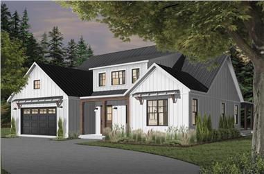4-Bedroom, 3354 Sq Ft Farmhouse Home - Plan #126-1976 - Main Exterior
