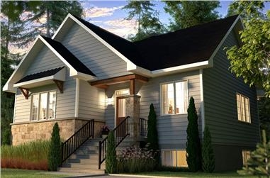 2-Bedroom, 1050 Sq Ft Craftsman Home - Plan #126-1978 - Main Exterior