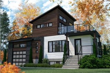 2-Bedroom, 1188 Sq Ft Contemporary Home - Plan #126-1979 - Main Exterior