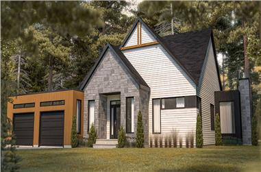 3-Bedroom, 1678 Sq Ft Contemporary Home - Plan #126-1981 - Main Exterior