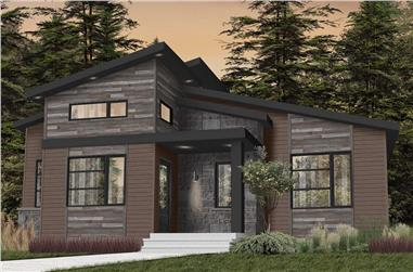2-Bedroom, 1421 Sq Ft Contemporary Home - Plan #126-1982 - Main Exterior