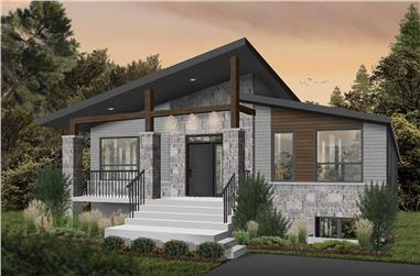 2-Bedroom, 1156 Sq Ft Contemporary Home - Plan #126-1984 - Main Exterior