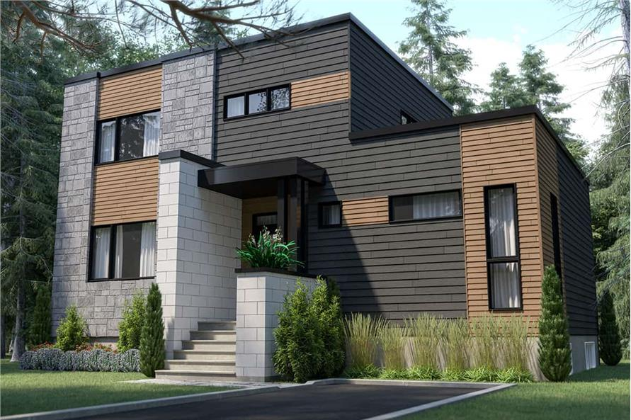 Front View of this 4-Bedroom,1587 Sq Ft Plan -126-1987