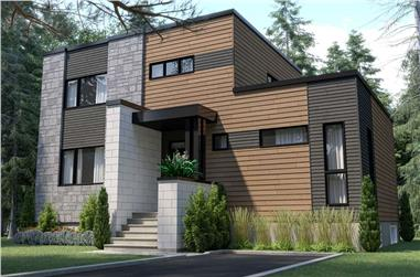 4-Bedroom, 1587 Sq Ft Modern Home - Plan #126-1987 - Main Exterior