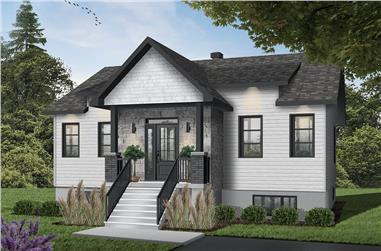 2-Bedroom, 1102 Sq Ft Ranch House - Plan #126-1989 - Front Exterior