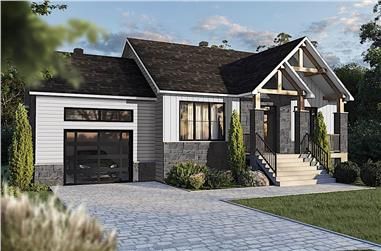 2-Bedroom, 1178 Sq Ft Ranch House - Plan #126-1990 - Front Exterior