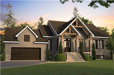 3-Bedroom, 1583 Sq Ft Country Home - Plan #126-1991 - Main Exterior