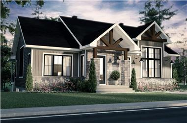 4-Bedroom, 2652 Sq Ft Country House - Plan #126-1993 - Front Exterior
