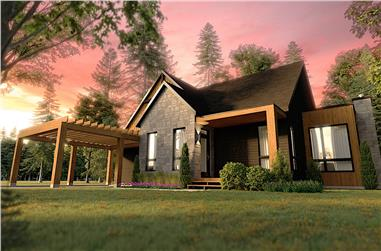 2-Bedroom, 1323 Sq Ft Ranch House - Plan #126-1995 - Front Exterior